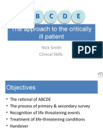 ABCDE Approach to the Critically Ill Patient - Nick Smith