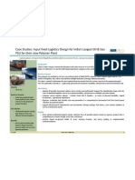 Input Feed Logistics Design Oil Gas