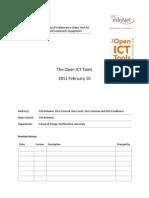 The Open ICT Tools