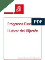 PROGRAMA ELECTORAL PSOE.Huévar