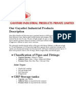 Our Gayathri Industrial Products Description