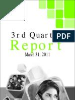 3rdQUARTERREPORT2010_2011
