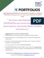 ACTIVE PORTFOLIO ADVICE Service-Stock Portfolios Based on Different Time-duration for Investors