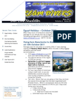 Dream Divers May 2011 Newsletter