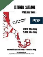 Cartell Masculi Futbol Sala 2011
