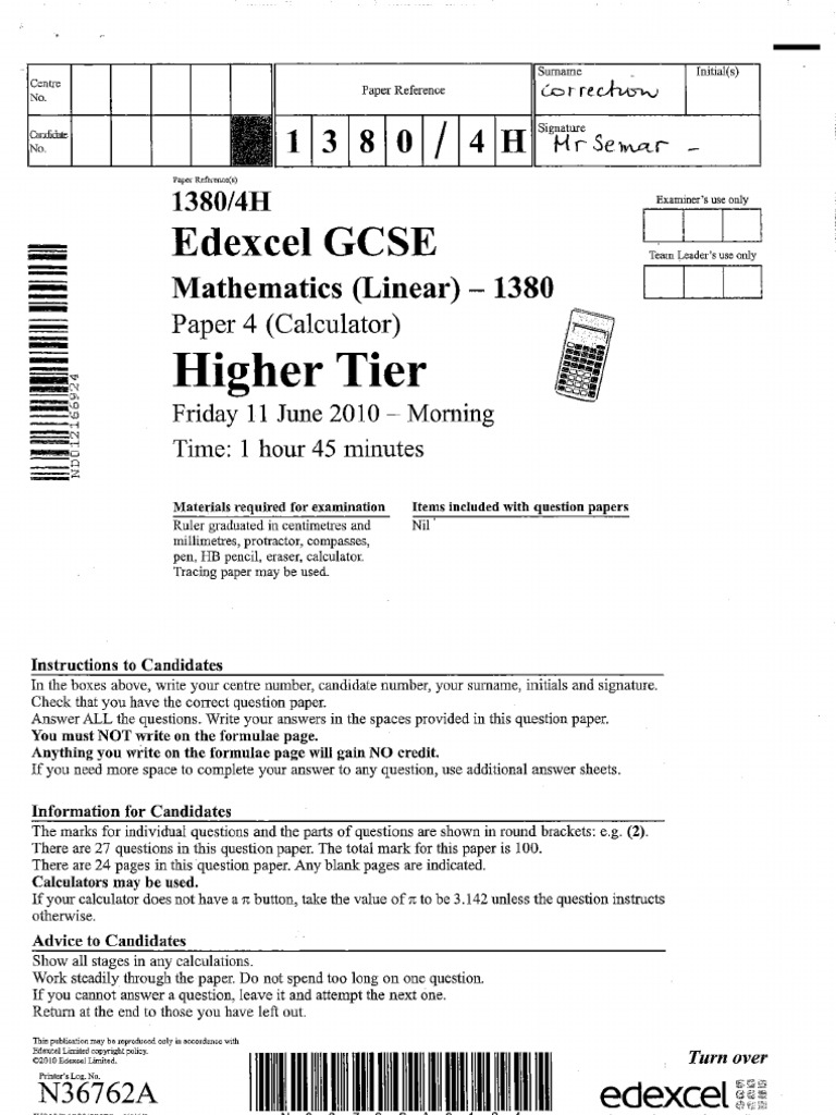 edexcel mathematics papers gcse Does anyone have the edexcel higher maths gcse mock 2015 autumn mock paper 2 thank you in advance.