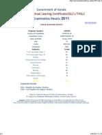 THSLC Examination Results - 2011