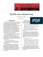 Transcript for the Fine Arts of Godly Living