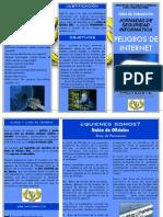 TRÍPTICO - JORNADA SEGURIDAD INFORMÁTICA - LOS PELIGROS DE INTERNET
