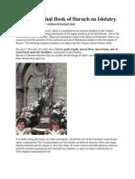 Book of Baruch on Idolatry