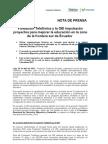 Fundación Telefónica y la OEI impulsarán proyectos para mejorar la educación en la zona de la frontera sur de Ecuador