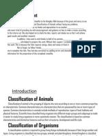 Science Scrapbook Form 2 Classification of Animals
