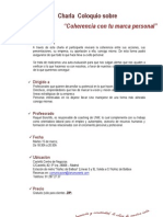 Charla de _coherencia Con Tu Marca Personal