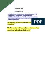 Noticias uruguayas 9 mayo 2011