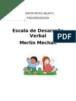 Escala de Desarrollo Verbal Merlin Mechan