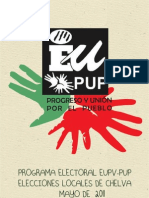 Programa Electoral EUPV-PUP