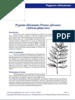Pygeum Africanum Monograph