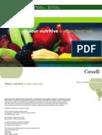Valeur Nutritive des Aliments - Etat Canadien
