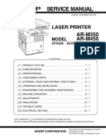 Sharp AR-M350, 450 Service Manual