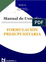 Formulación Presupuestaria - Siga