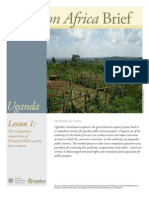 Uganda Lesson 1 Brief
