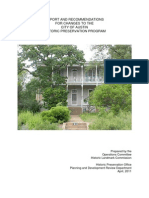 Historic Preservation - Full Report