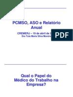 PCMSO, ASO e Relatório Anual