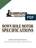 Eliminator Down Hole Motor Catalog