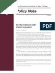 Galbraith Fed Policy
