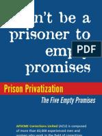 Prison Privatization the Five Empty Promises