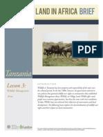 Tanzania Lesson 3 Brief