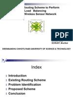 Load Balancing in Sensors Network