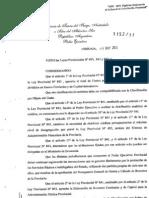 Decreto Provincial Nº 1152/11
