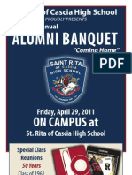 2011 Alumni Banquet Program