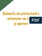 14126566 Elemente de Arhitectur a Sistemelor de Calcul i Operare