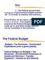 Budget and Fiscal Policy