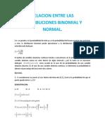 Relacion Entre Las Distribuciones Binomial y Normal