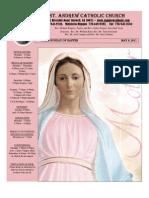 May 8, 2011 Bulletin