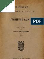 Em Swedenborg Doctrine de La Nouvelle Jerusalem Sur L'Ecriture Sainte 1763 Librairie Fischbacher 1901