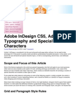 Adobe InDesign CS5, Advanced Typography and Special Characters | Vector Tuts+