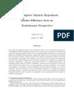 Adaptive Markets Hypothesis