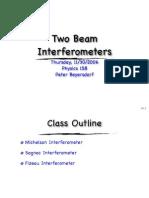 11-30 Two Beam Interferoemters