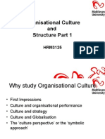 HRM3125!10!11 Week 5 Culture and Structure