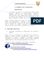 Proceso de Matricula - Certificacion de Maestro