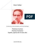Cesar Vallejo-Poemas Humanos y Otros