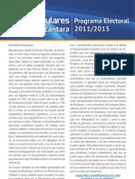 Programa electoral del PP de Alcántara (Elecciones municipales 2011)