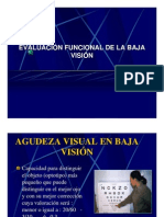 Evaluacion Funcional de La Baja Vision