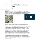 Deuda Externa de Honduras Asciende A