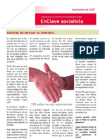PSOE Alcántara. EnClave Socialista Agosto 2007