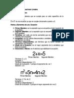 Unidad Temática Ecuaciones Lineales
